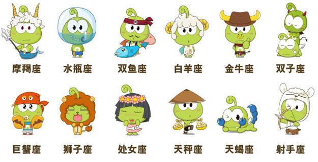 12星座青蛙形象图