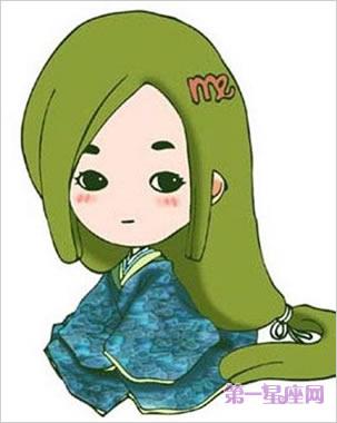 可爱少女十二星座卡通图